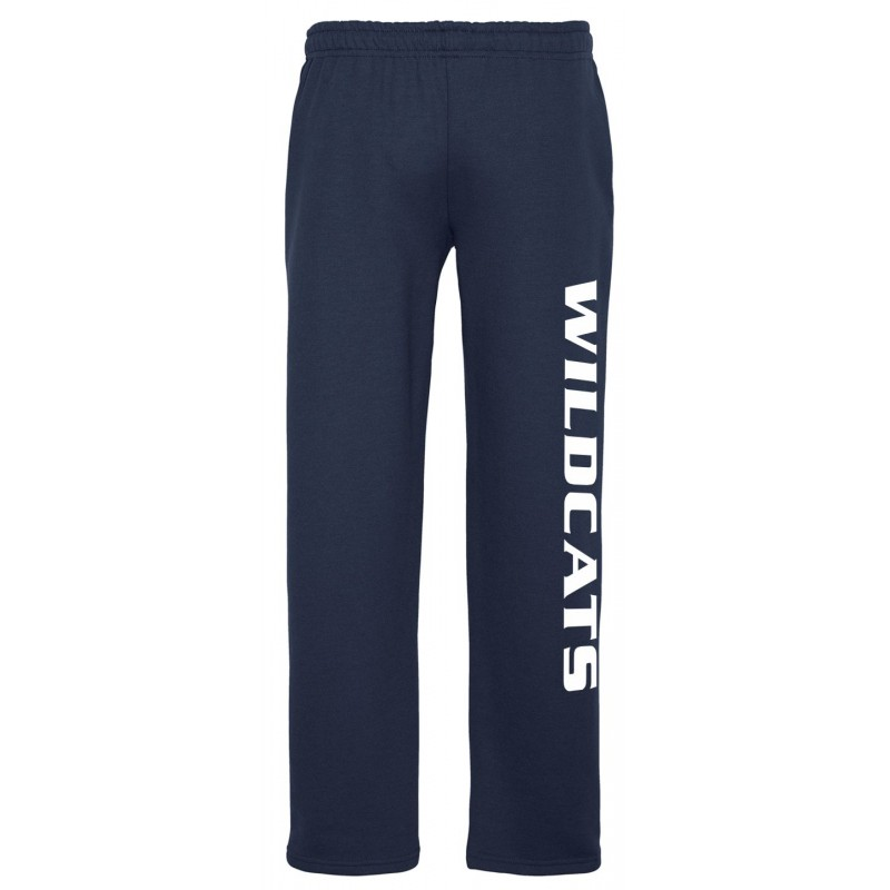 St. Aloysius Academy Gym - Gildan 12300/18400B Adult/Youth Open-Bottom Sweatpants (For Grades 6, 7, 8 only) | WILDCATS (Navy)