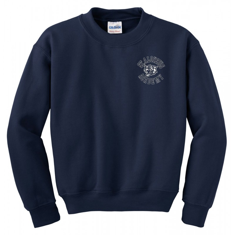 St. Aloysius Academy Gym - Gildan 18000/18000B Adult/Youth Crew Sweatshirt (Navy)
