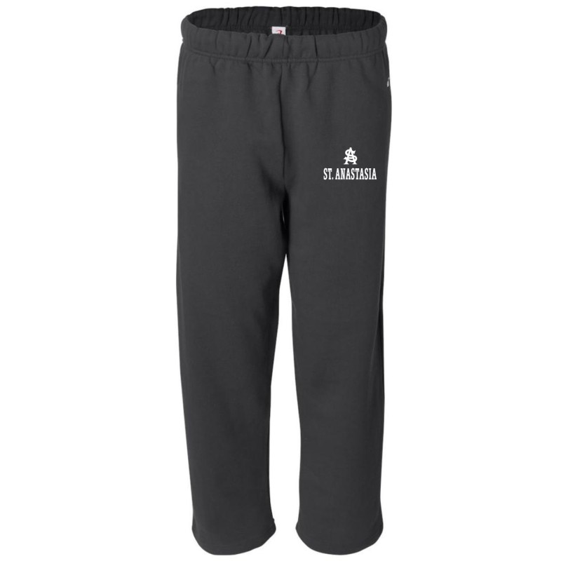 St. Anastasia Gym - Badger 1277/2277 Adult/Youth Open-Bottom Pocketed Sweatpants