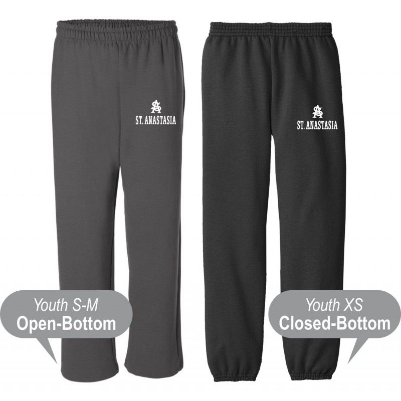 St. Anastasia Gym - Gildan G184B/Port & Company PC90YP Youth Sweatpants