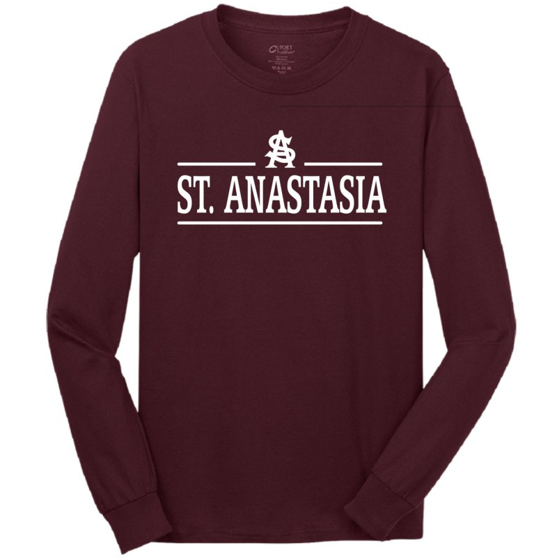 St. Anastasia Gym - Port & Company PC54LS/PC54YLS Adult/Youth Long Sleeve Tee