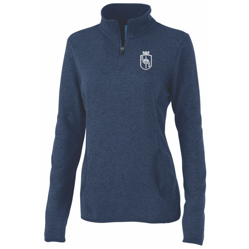 St. Margaret Gym - Charles River 5312 Ladies 1/4 Zip Pullover