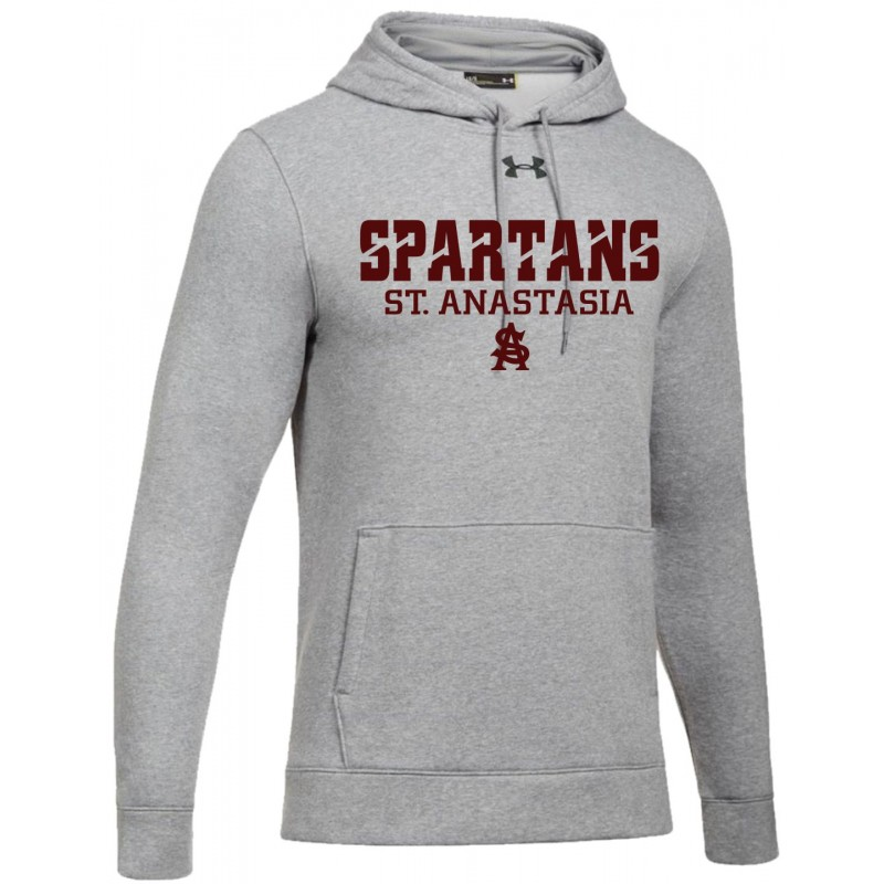 St. Anastasia School Store - Under Armour 1300123/1300129 Adult/Youth Hooded Sweatshirt (True Grey Heather - Old Style)