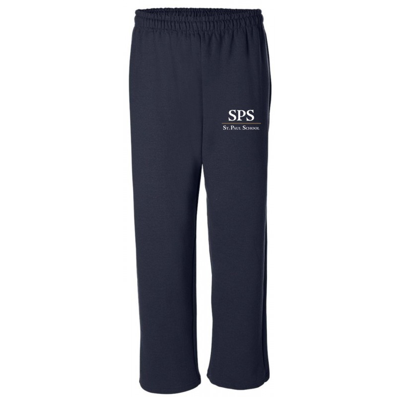 St. Paul School Store - Gildan 18400/18400B Adult/Youth Open-Bottom Sweatpants