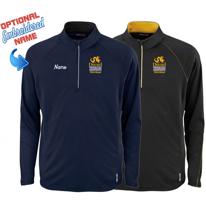 Drexel PA Program - North End 88187 Mens 1/4 Zip Performance Pullover