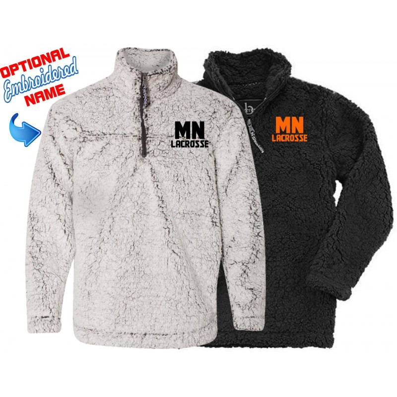 MN Girls Lacrosse - Boxercraft Q10/YQ10 Adult/Youth Unisex Sherpa 1/4 Pullover