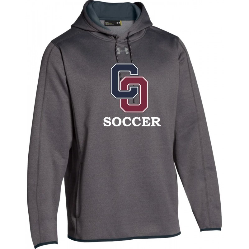 O'Hara Girls Soccer - Under Armour 1295286 Hooded Sweatshirt (Carbon Heather)
