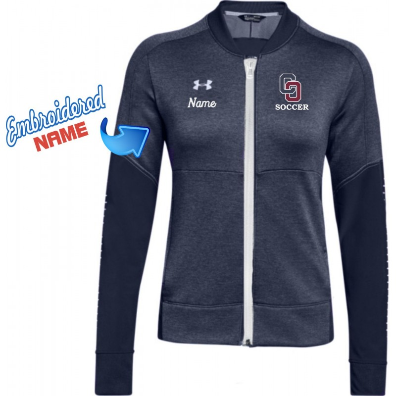 O'Hara Girls Soccer - Under Armour 1327444 Ladies Zip Front Jacket (Navy/White)